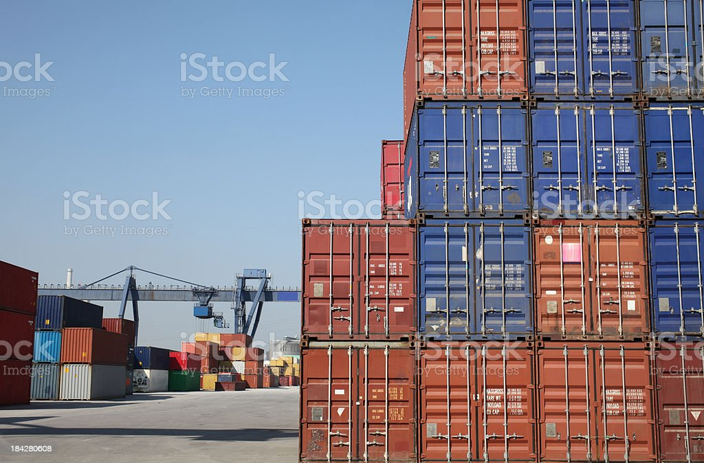 Cargo container terminal royalty-free stock photo