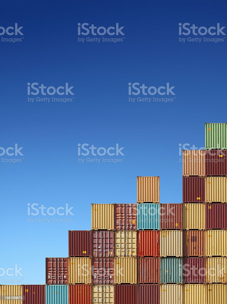 Cargo containers chart royalty-free stock photo