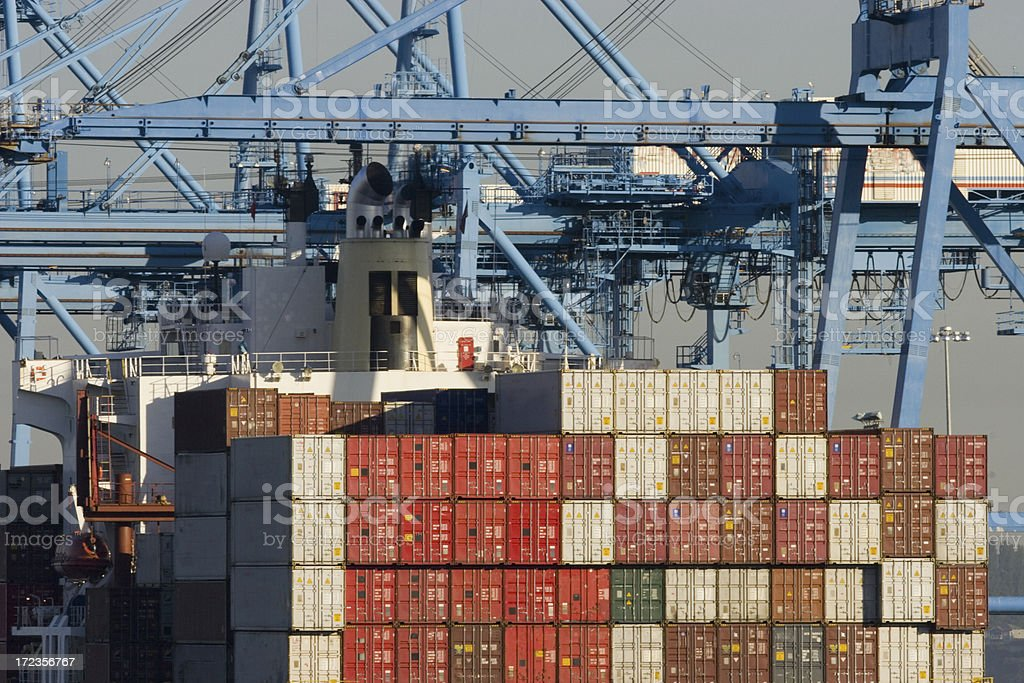 Cargo Containers on a Ship royalty-free stock photo