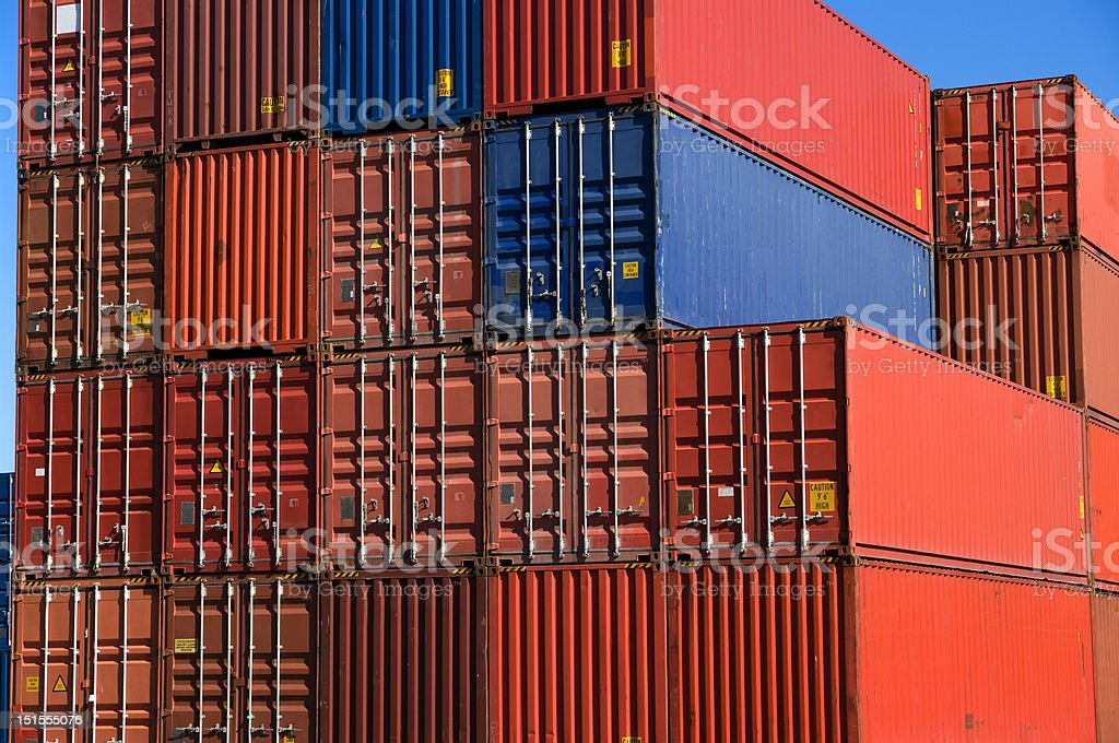 Cargo containers royalty-free stock photo