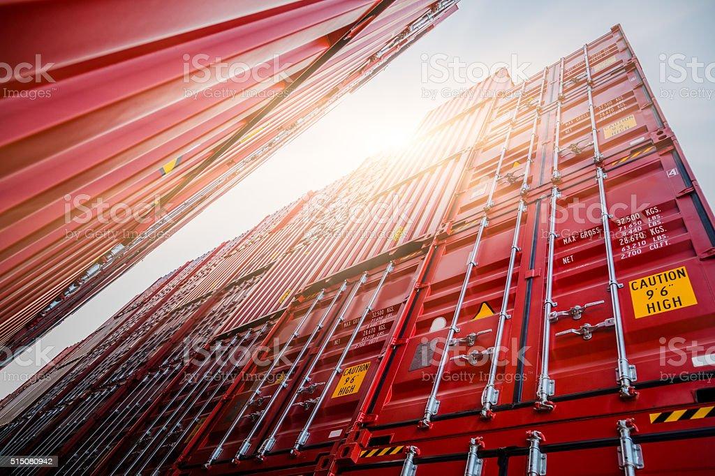 Frachtcontainern - Lizenzfrei Auslieferungslager Stock-Foto