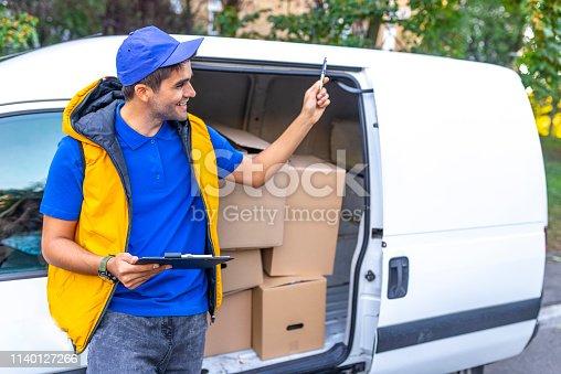 635967404 istock photo Cargo delivery service 1140127266