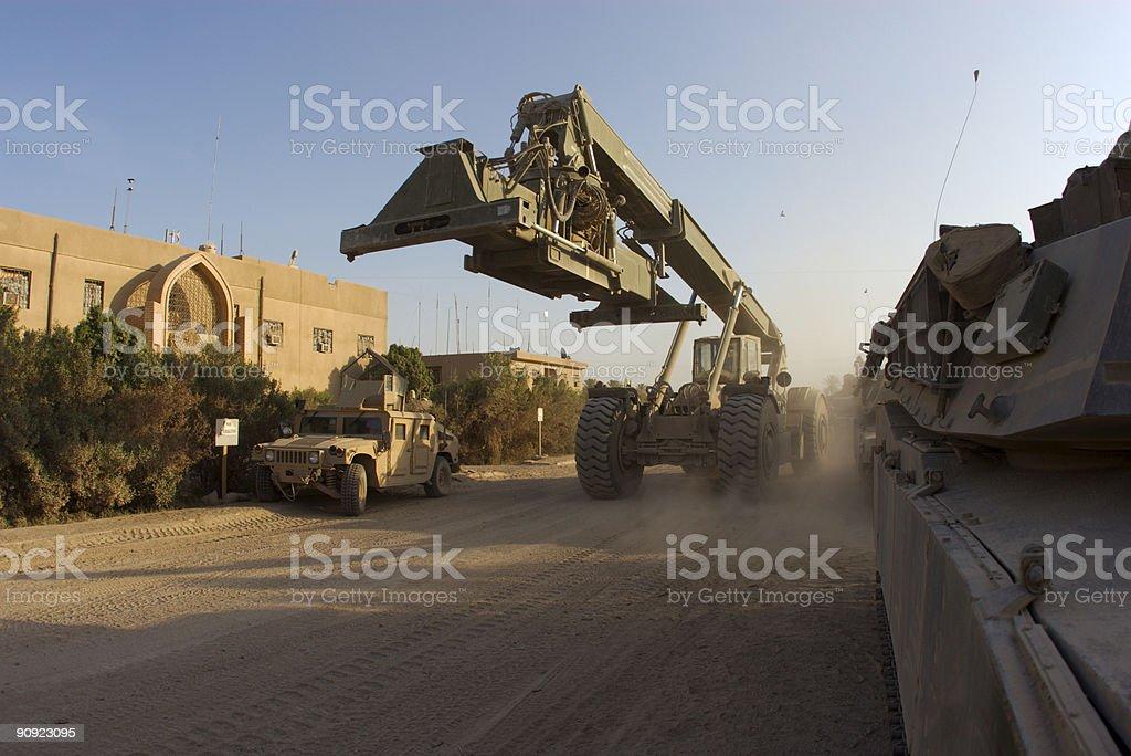 Cargo Handler stock photo