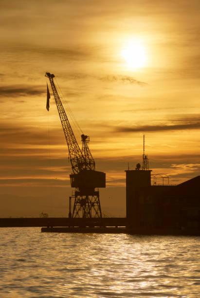Cargo harbor stock photo