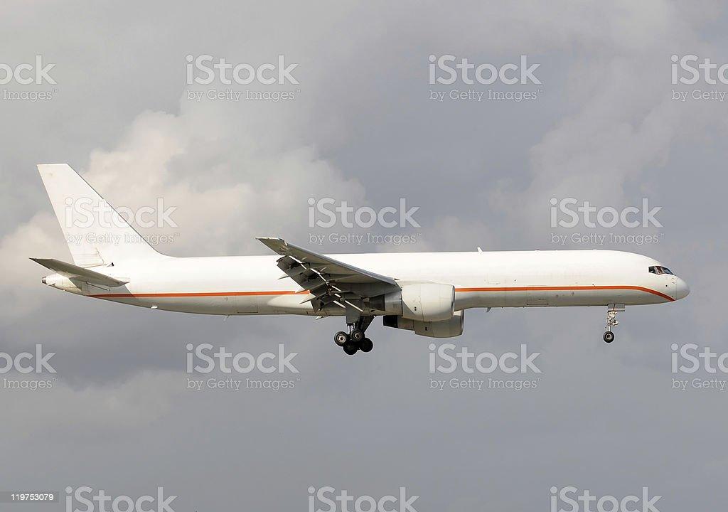 Cargo jet airplane stock photo