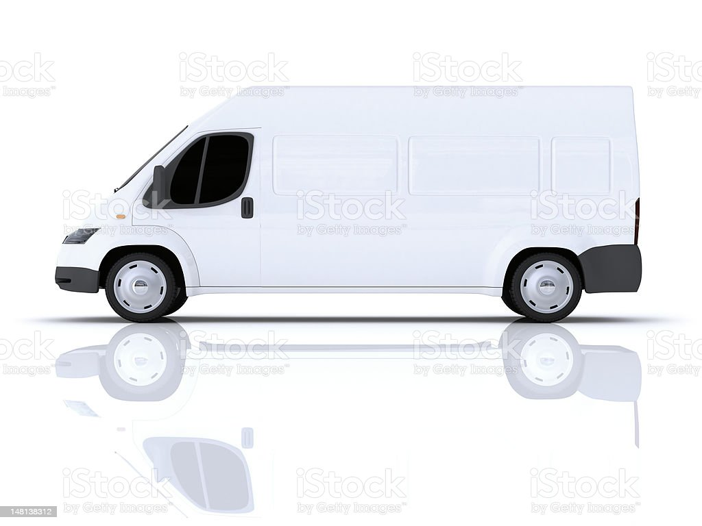 Cargo Minibus royalty-free stock photo