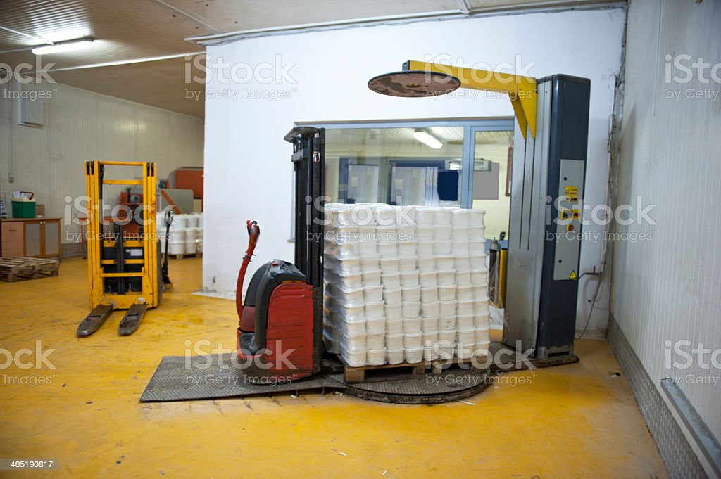 cargo packing machine stock photo