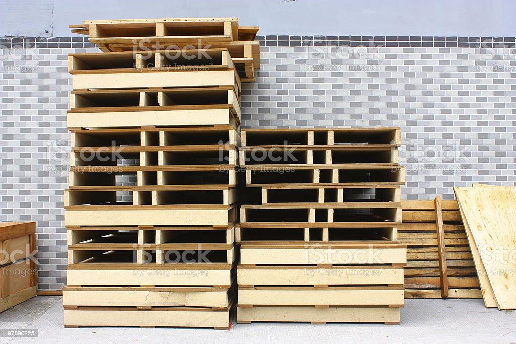 Cargo pallet piles royalty-free stock photo
