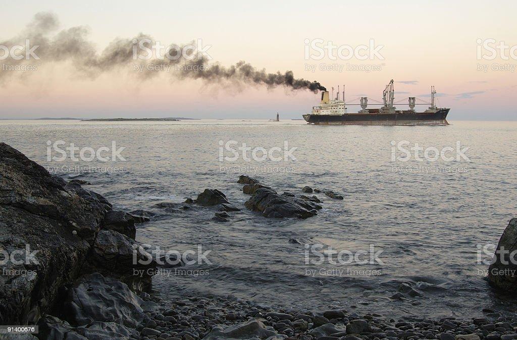 Cargo pollution stock photo