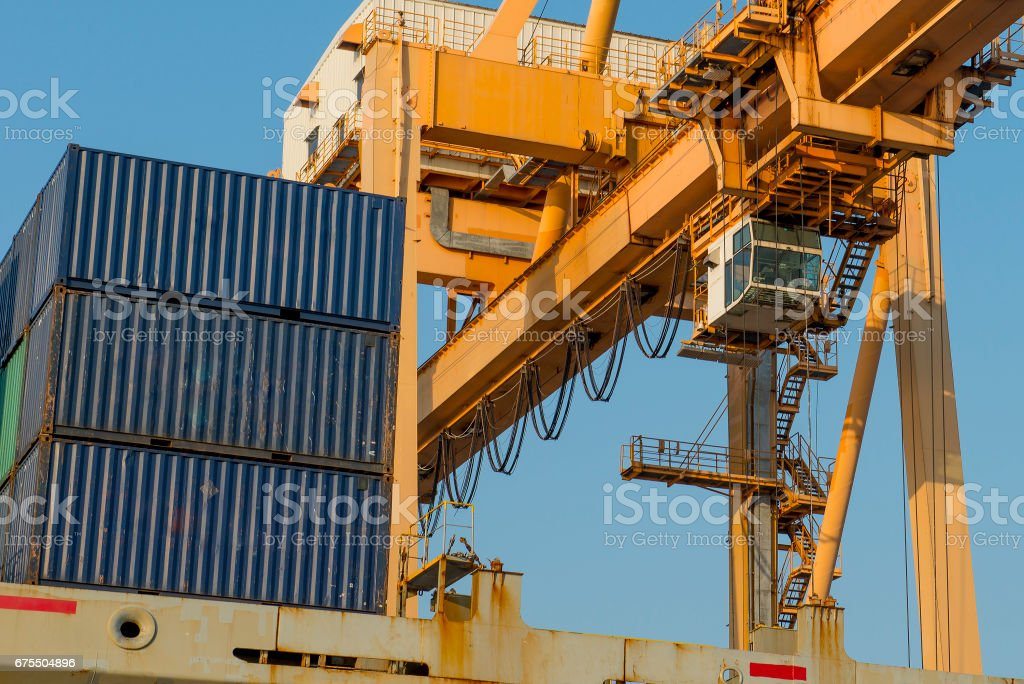 Cargo port photo libre de droits