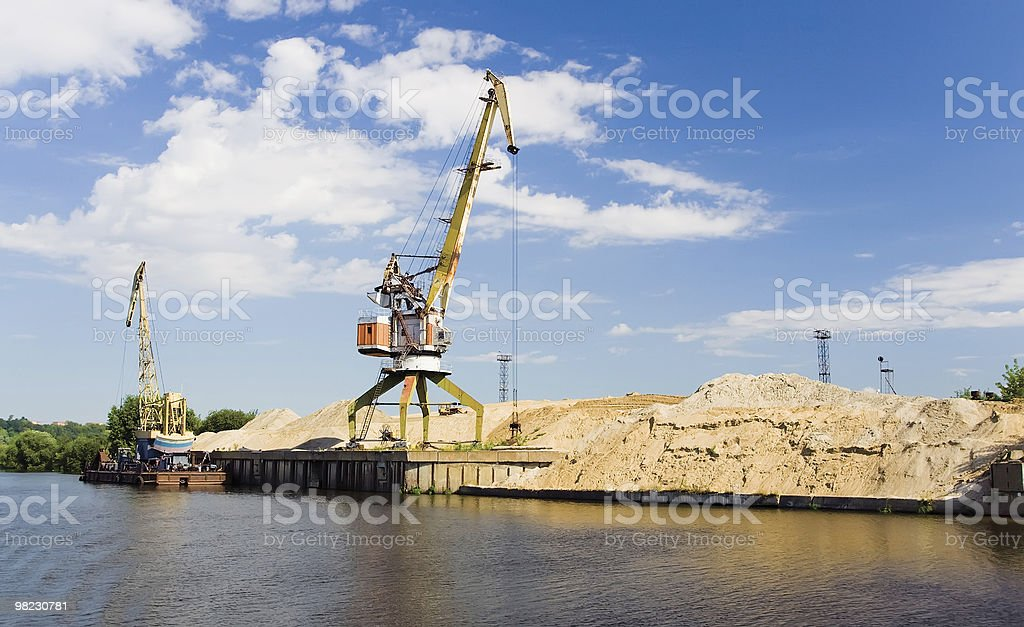 Cargo port royalty-free stock photo