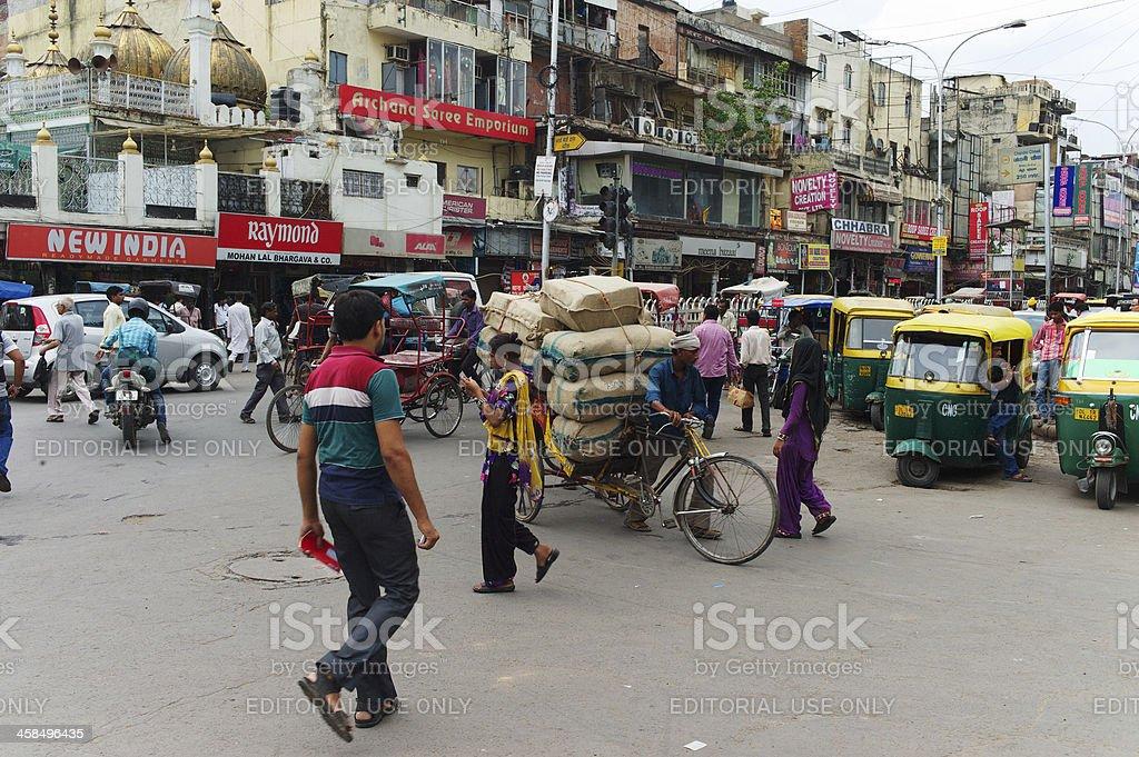 Cargo Rickshaw in New Delhi royalty-free stock photo