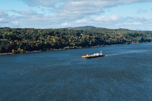 483418977 istock photo Cargo ship at the Hudson River 1078240990