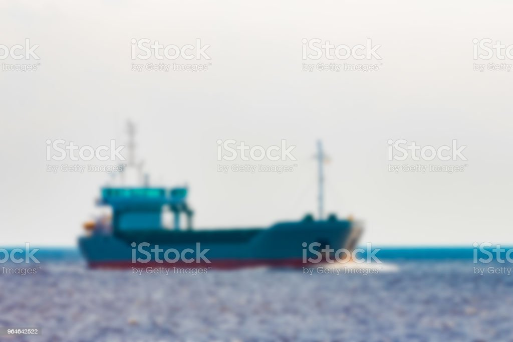 Cargo ship - blurred image royalty-free stock photo