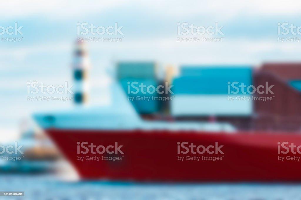 Cargo ship - blurred image royalty-free stock photo