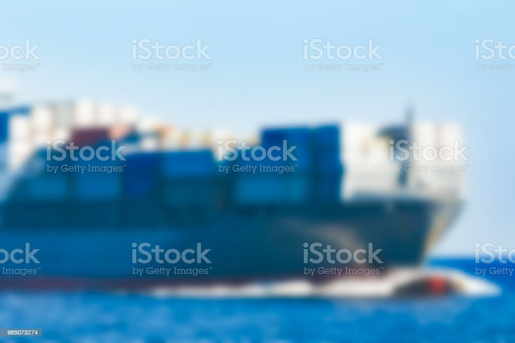 Cargo ship - blurred image zbiór zdjęć royalty-free