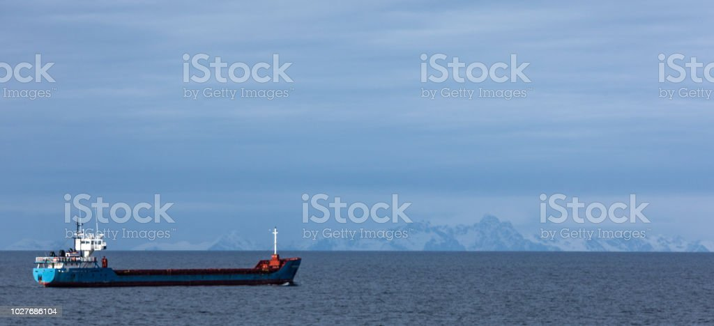 online store 556c4 cccd1 Cargo Ship In The North Sea Stock Photo - Download Image Now ...