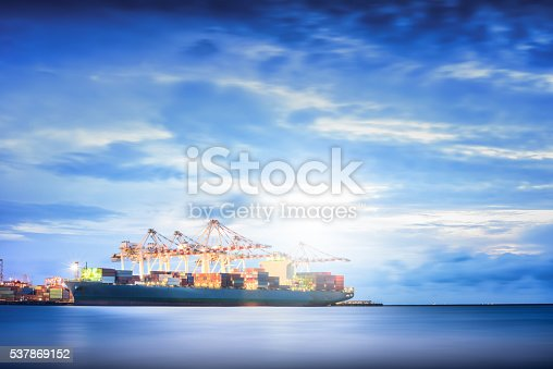 637816284istockphoto Cargo ship in the Trade Port, Shipping, Logistics, Transportation Systems, 537869152