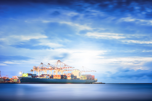 637816284 istock photo Cargo ship in the Trade Port, Shipping, Logistics, Transportation Systems, 537869152