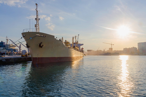 Cargo Ship Stock Photo - Download Image Now