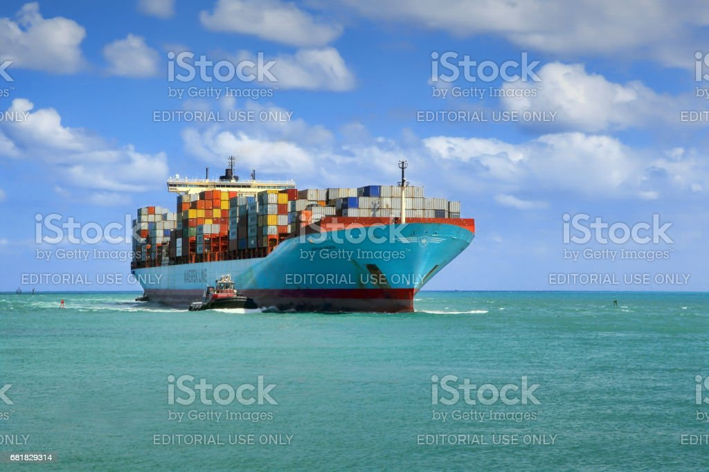 Cargo Ship stock photo