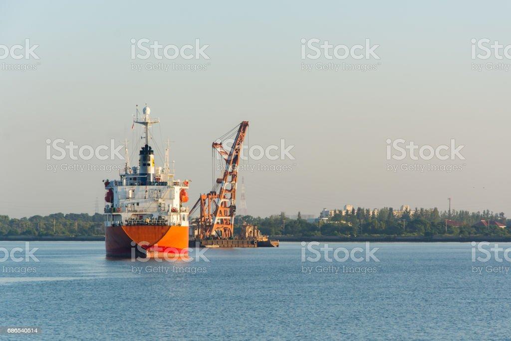 Cargo ship photo libre de droits
