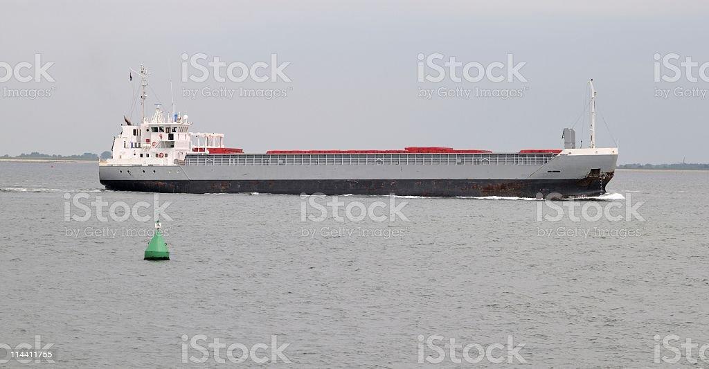 Cargo ship sailing on Eastern Scheldt,Zeeland,the Netherlands stock photo