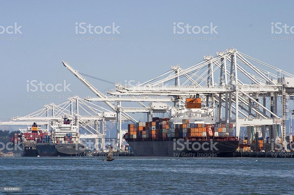 Cargo Ships 1 royalty-free stock photo
