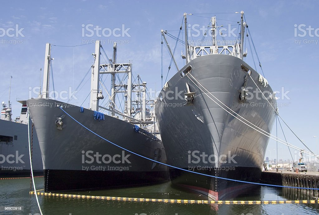 Cargo Ships 3 royalty-free stock photo
