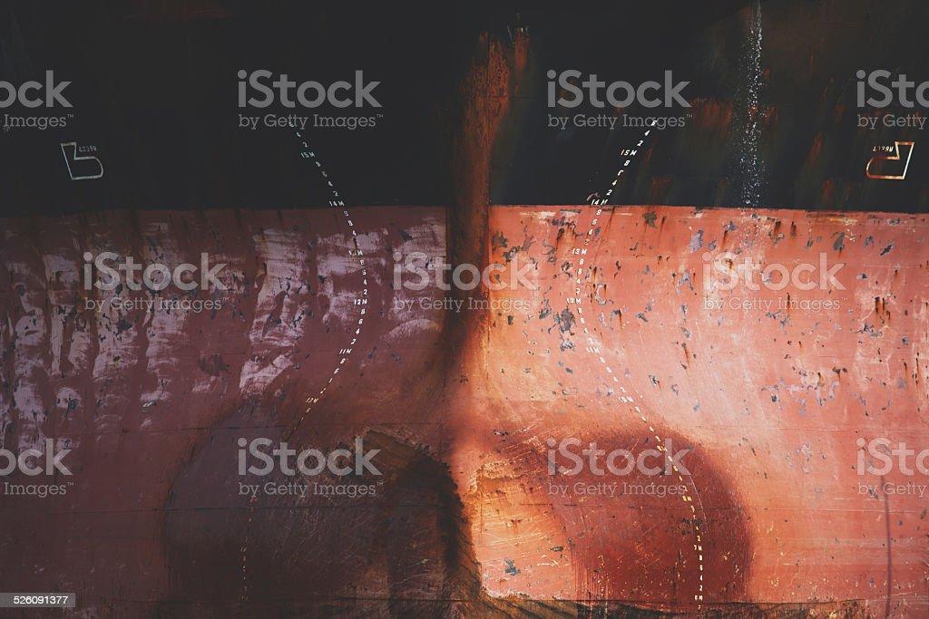 Cargo Ships Bow Closeup stock photo