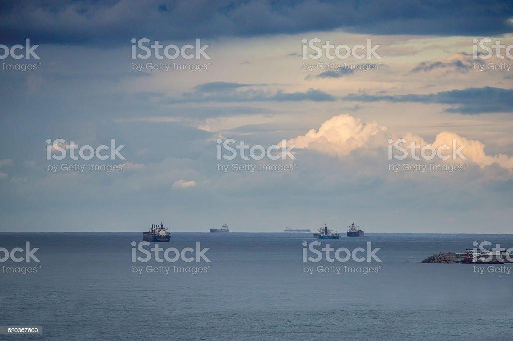 Cargo Ships in the Black Sea foto de stock royalty-free