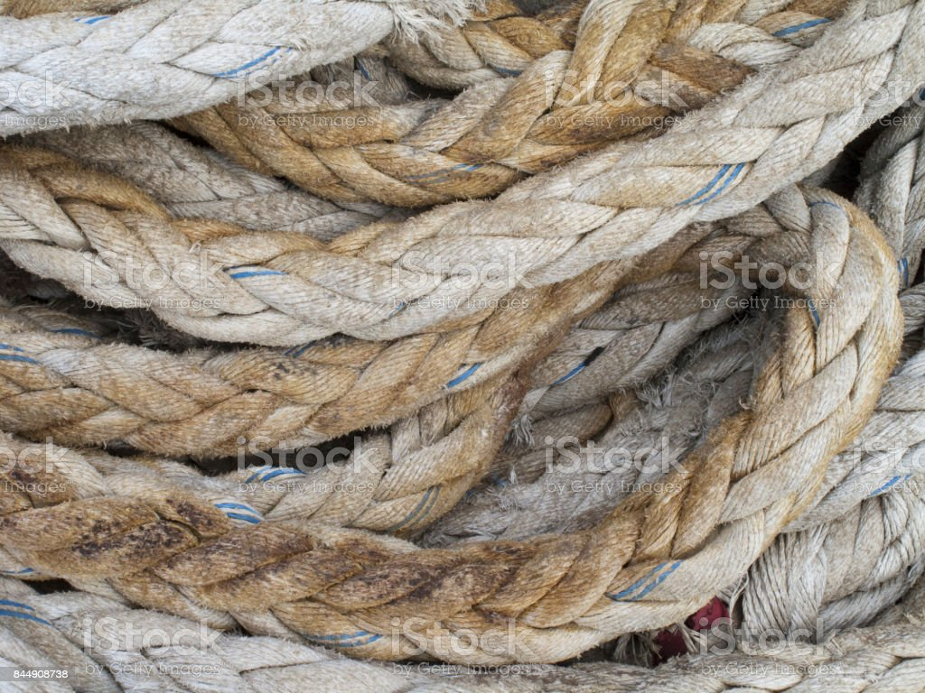 Cargo Ships Mooring Ropes Stock Photo - Download Image Now