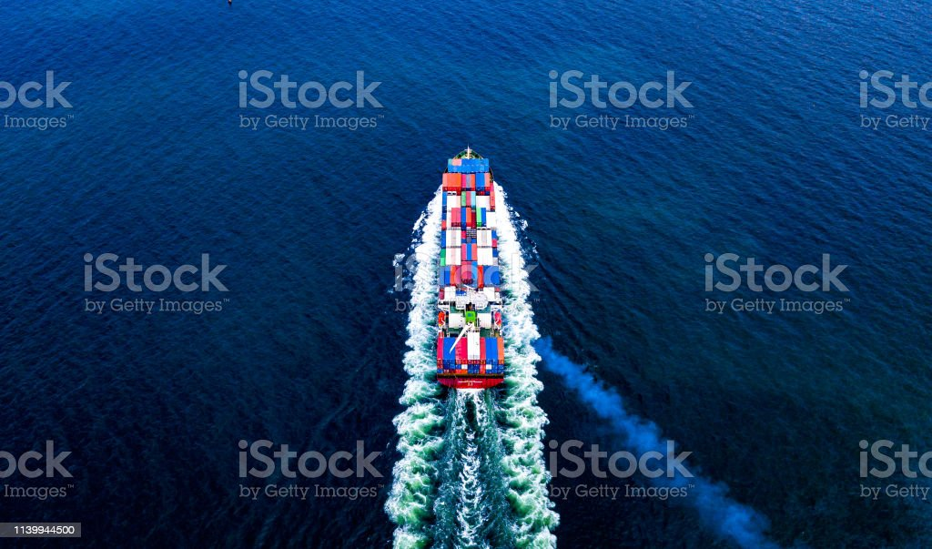 Cargo Ships With Full Container Receipts To Import And Export Products  Worldwide Singapore Stock Photo - Download Image Now