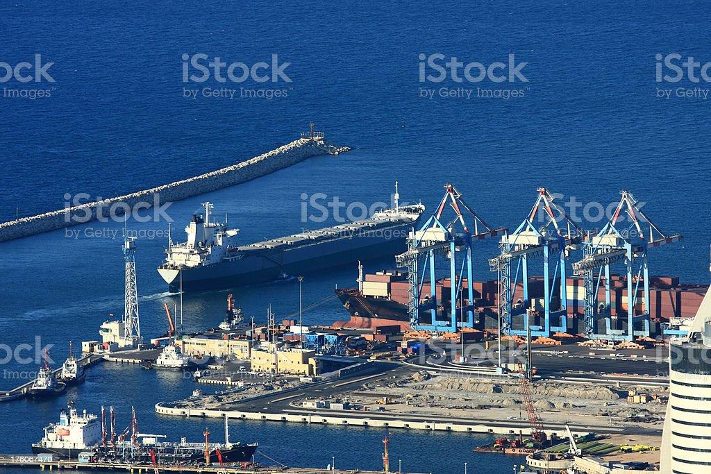Cargo terminal royalty-free stock photo