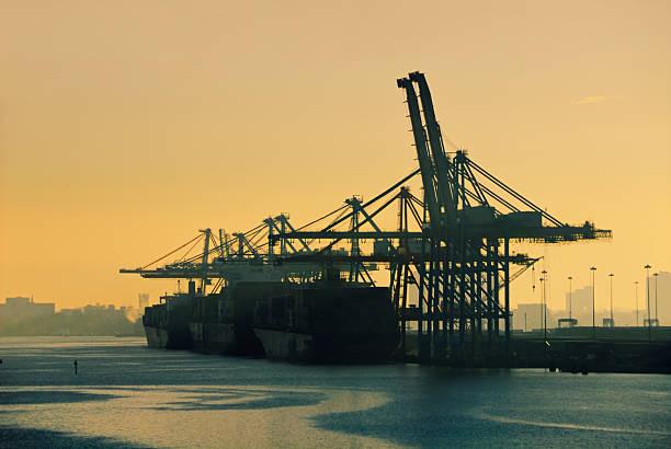 Cargo Terminal Sunrise stock photo