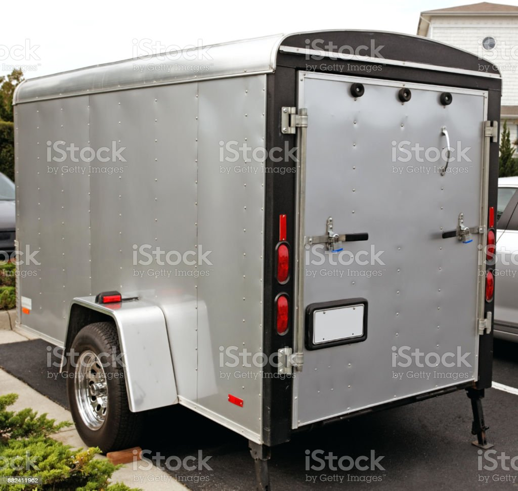 Cargo Trailer stock photo