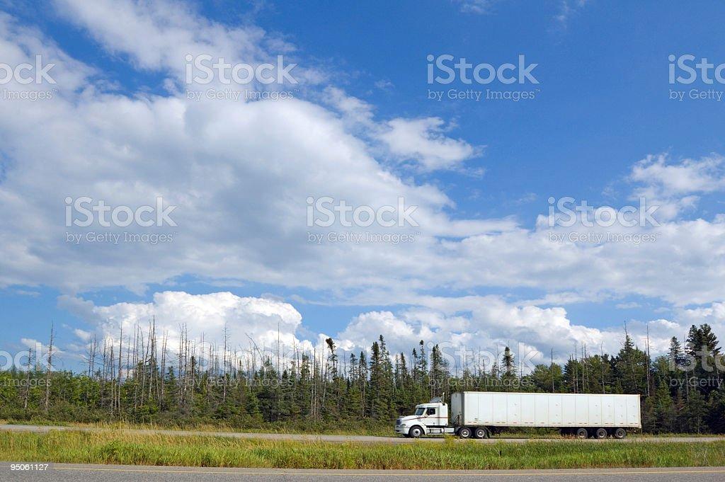 Cargo truck royalty-free stock photo