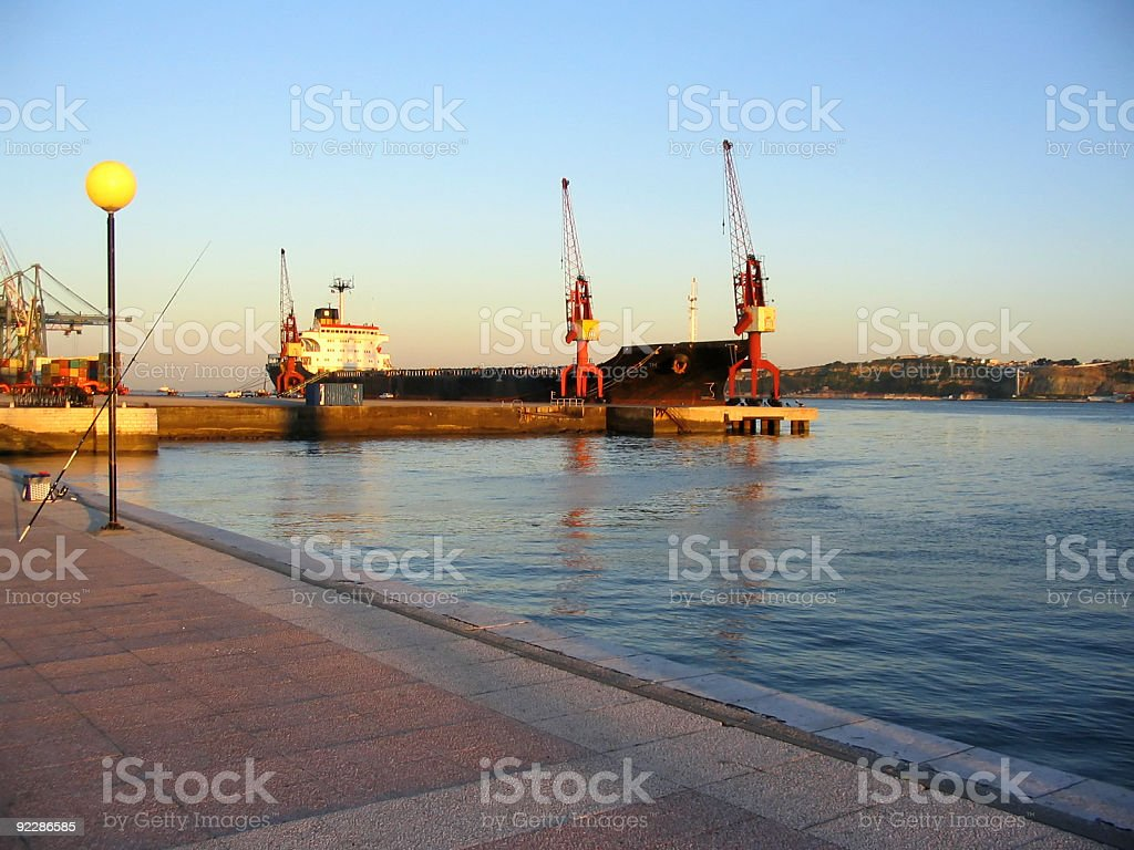 Cargo-ship royalty-free stock photo