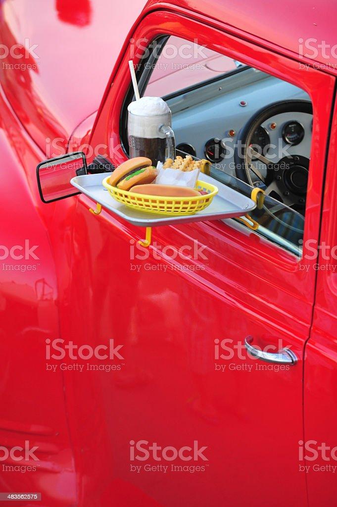 Carhop stock photo