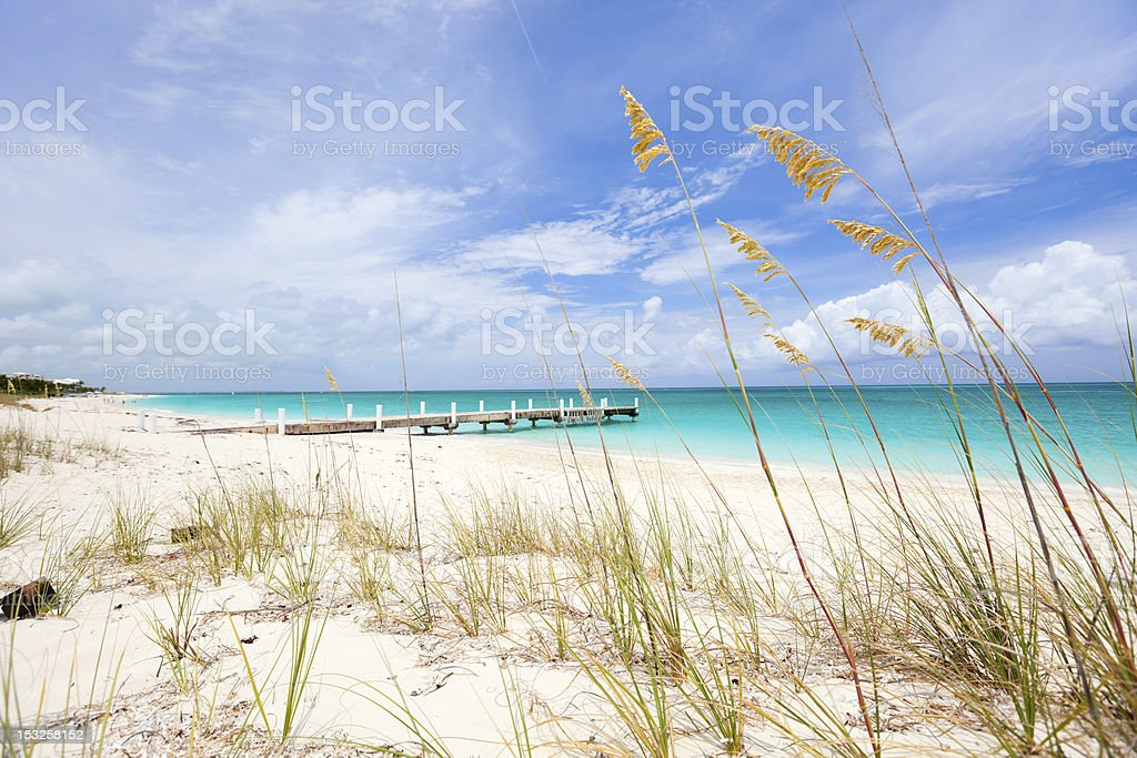 Caribbean beach and sea stock photo