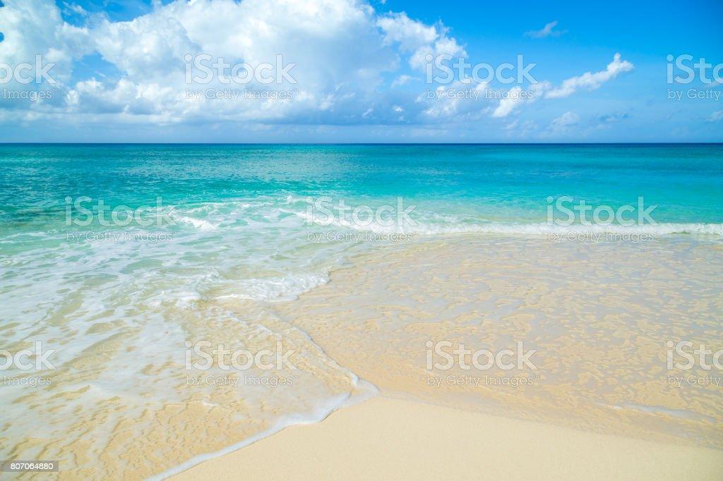 Playa Caribe fondo nadie copia espacio - foto de stock
