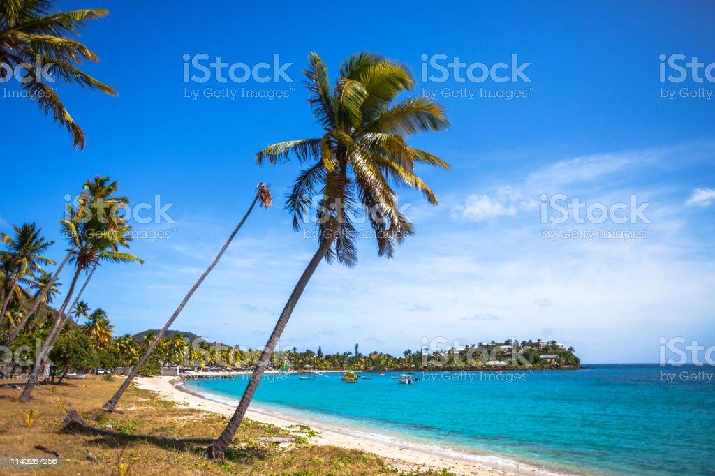 Caribbean beach - Carlisle Bay, Antigua & Barbuda stock photo