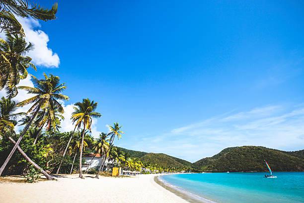 caribbean beach. carlisle bay, antigua & barbuda. - caribbean culture stock pictures, royalty-free photos & images