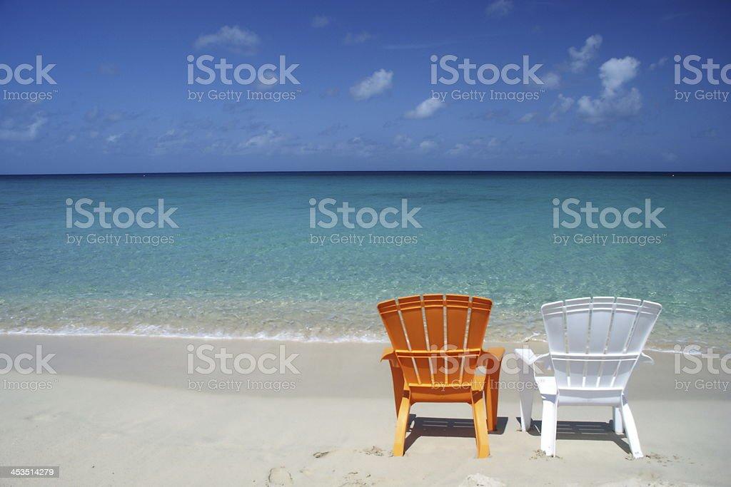 Caribbean Beach Chairs stock photo