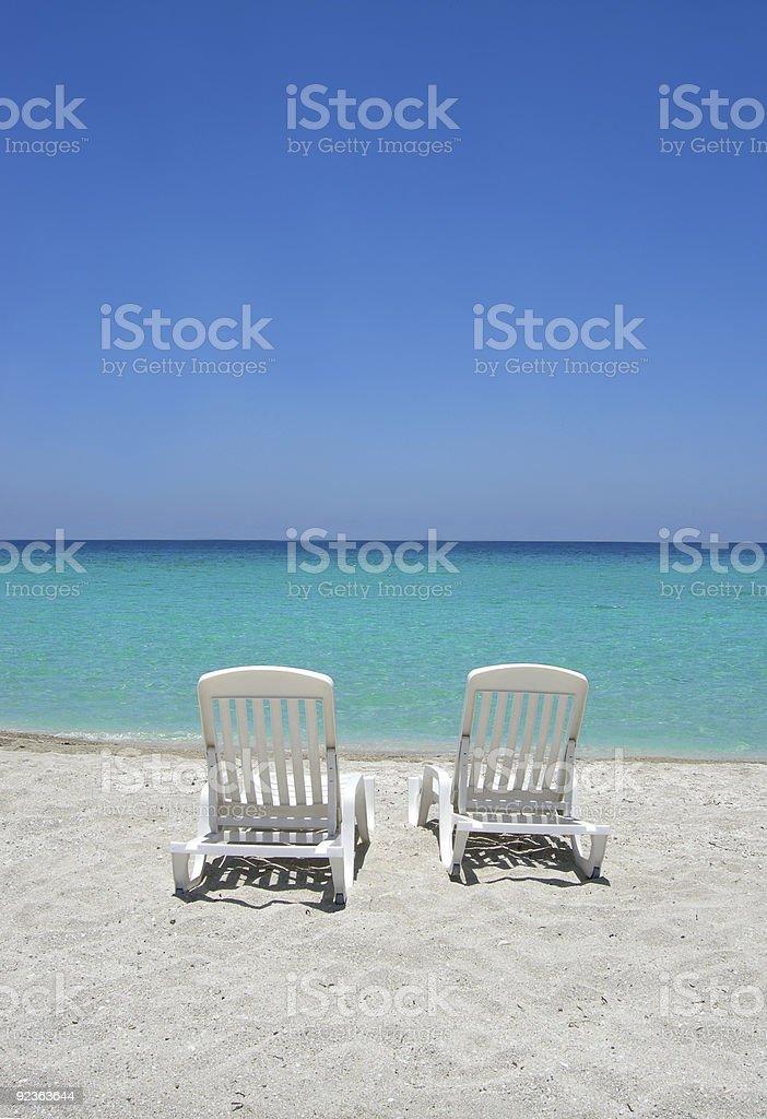 Karibik Strand Stühle Lizenzfreies stock-foto