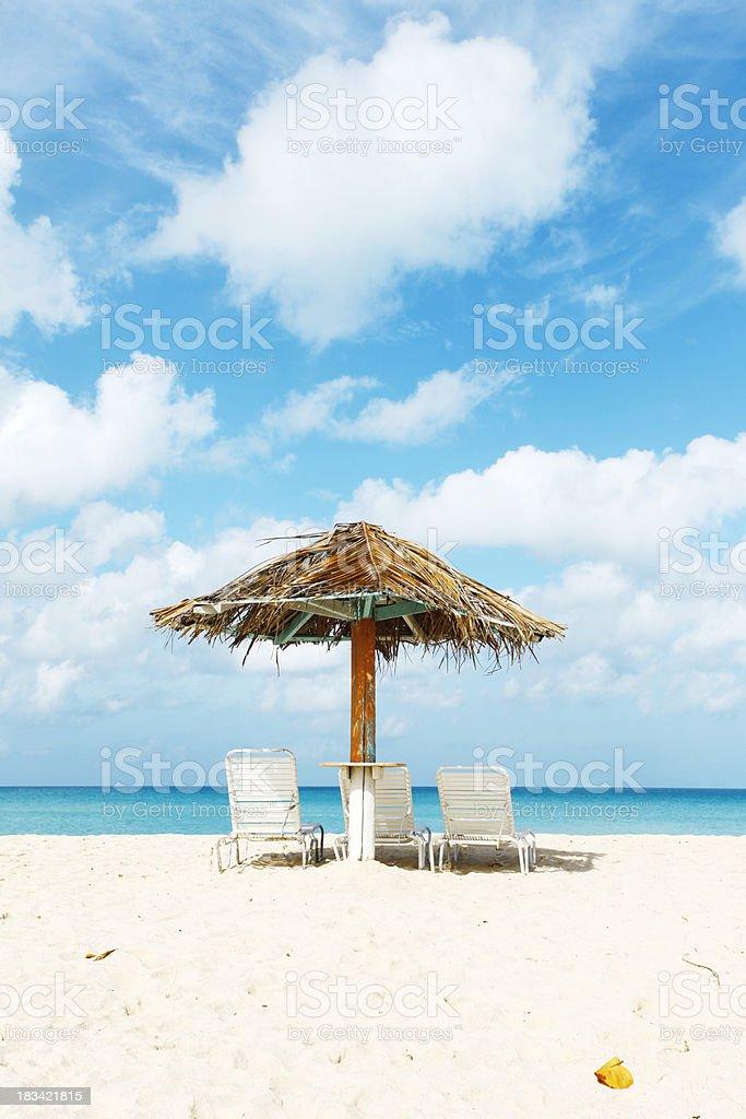 Caribbean beach front harmony royalty-free stock photo