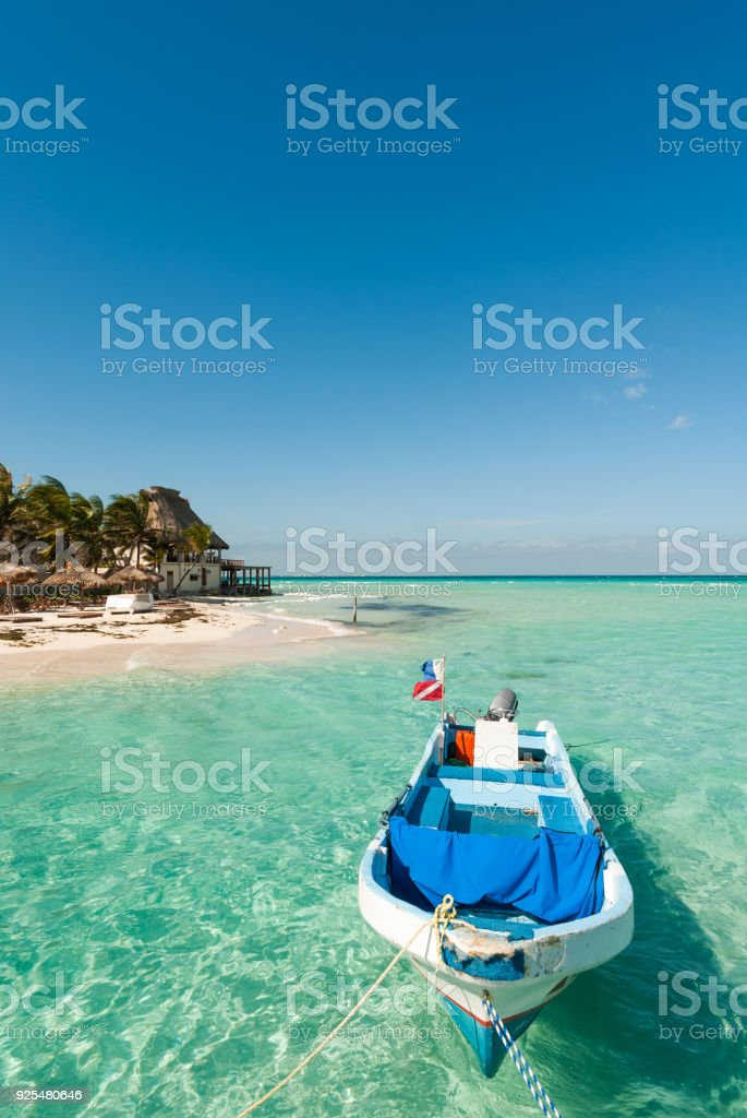 Caribbean beach in Mexico - foto stock
