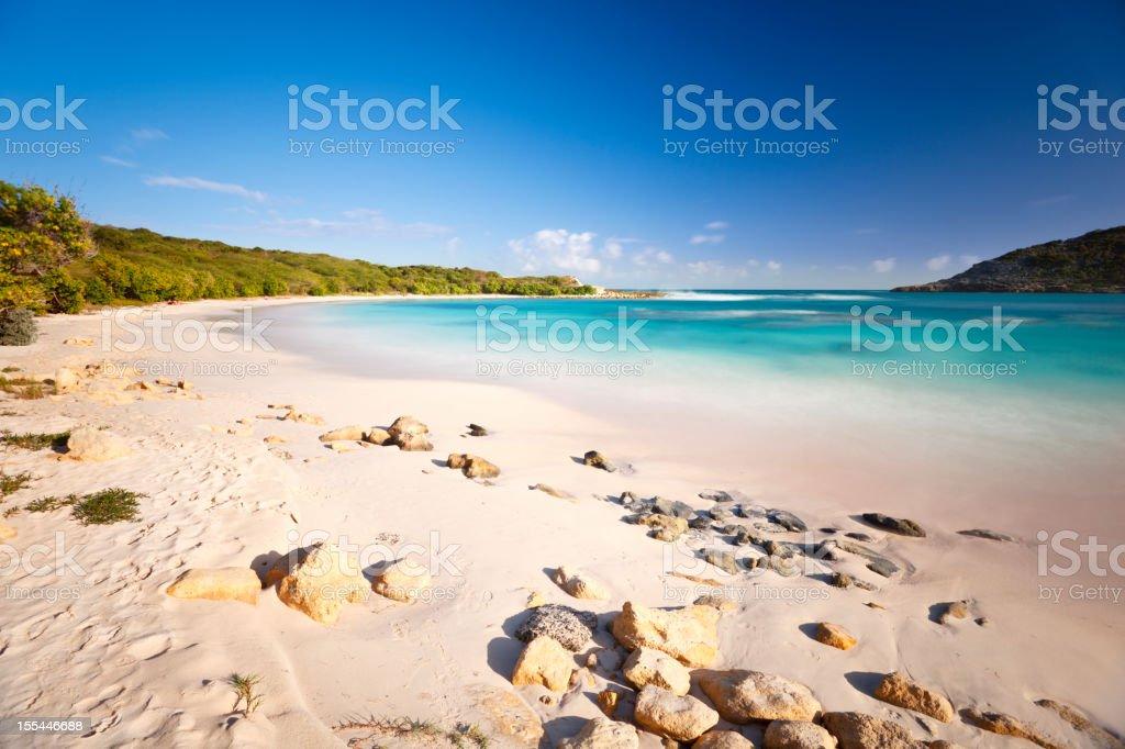 Caribbean Beach Long Exposure stock photo
