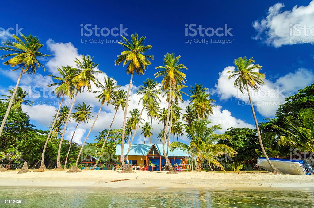 Caribbean Beach Shack stock photo
