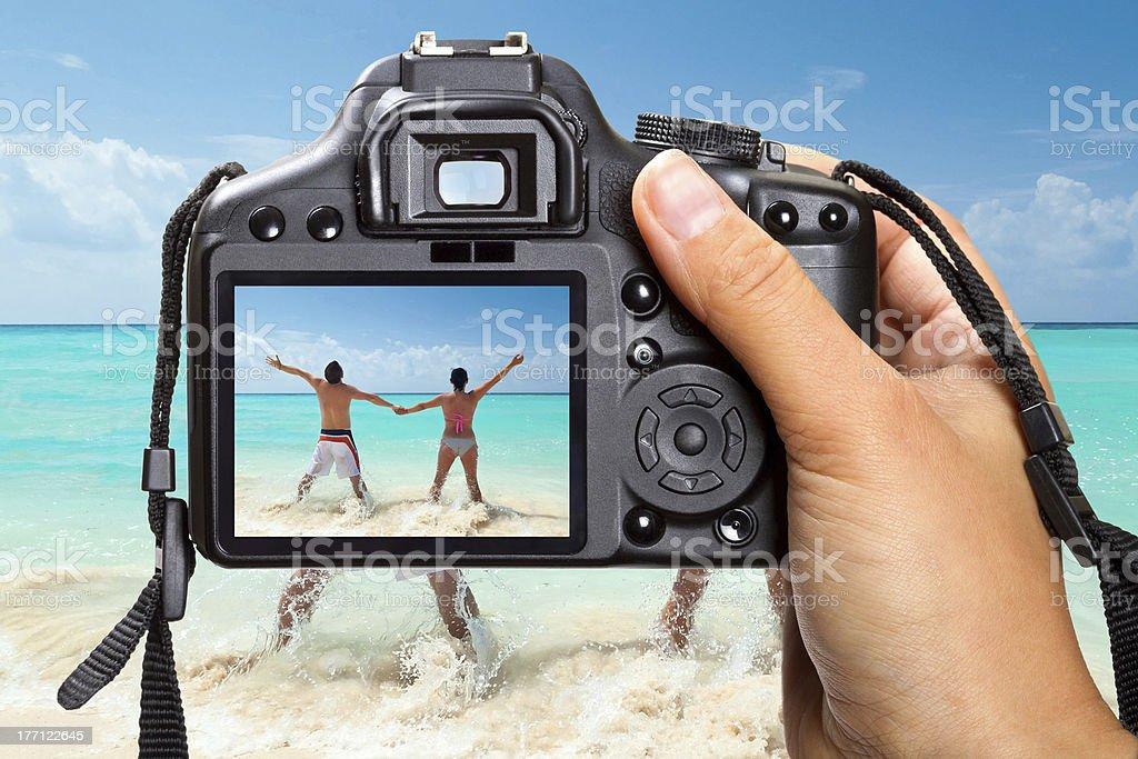 Caribbean beach vacations royalty-free stock photo